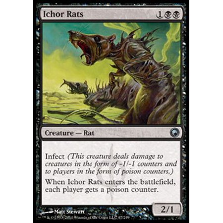 Ichor Rats   Scars Of Mirrodin  A Single Individual Card From The Magic  The Gathering  Mtg  Trading And Collectible Card Game  Tcg Ccg   By Magic  The Gathering