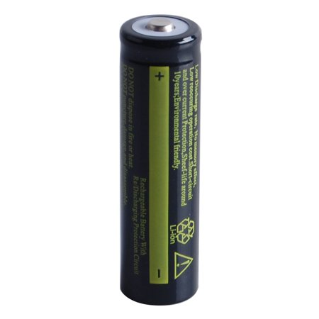 1 Pcs 3.7 V 18650 4200 mAh Li-ion Rechargeable Battery for Flashlight Torch Black
