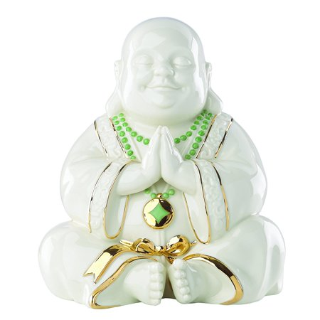 - Exclusive Lenox Happy Praying Buddha Statue Figurine