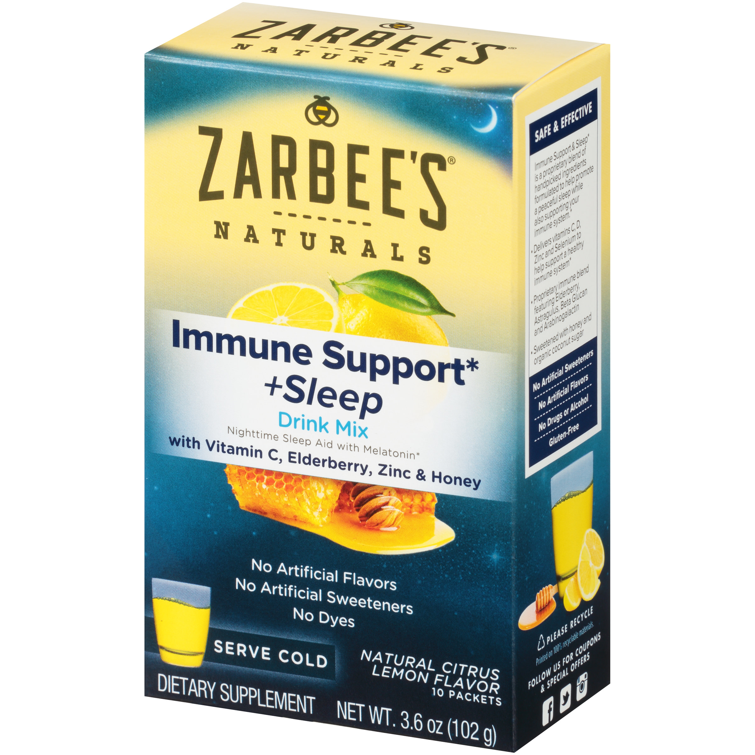 Zarbee S Naturals Immune Support And Sleep Drink Mix With
