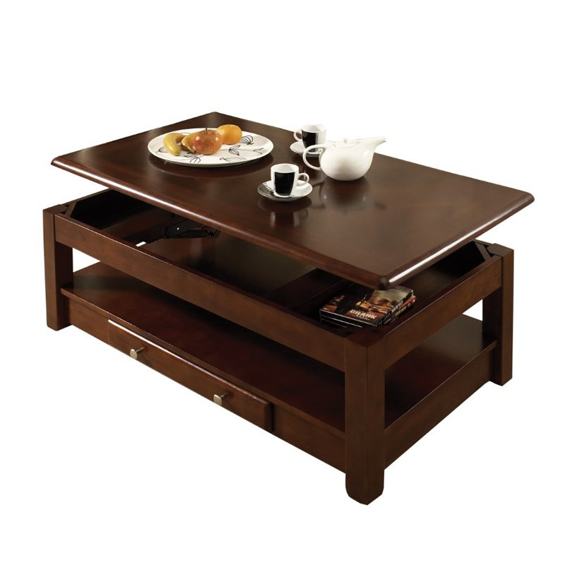 Cherry Coffee Table steve silver nelson lift top coffee table in cherry - walmart
