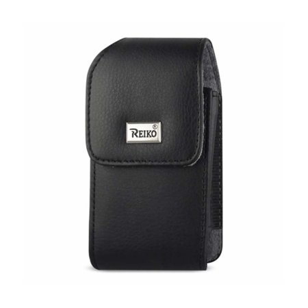 Leather Treo Smartphone - VERTICAL LEATHER POUCH TREO 650 WITH MEGNETIC AND METAL BELT CLIP BLACK (4.4X2.3X0.9 INCHES)