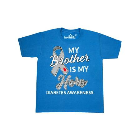 My Brother is My Hero- Diabetes Awareness Youth T-Shirt (Diabetes Awareness Apparel)