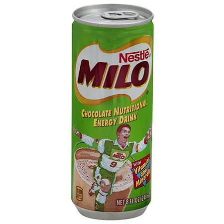 Nestle Milo Chocolate Nutritional Energy Drink  8 Fl Oz   Pack Of 24