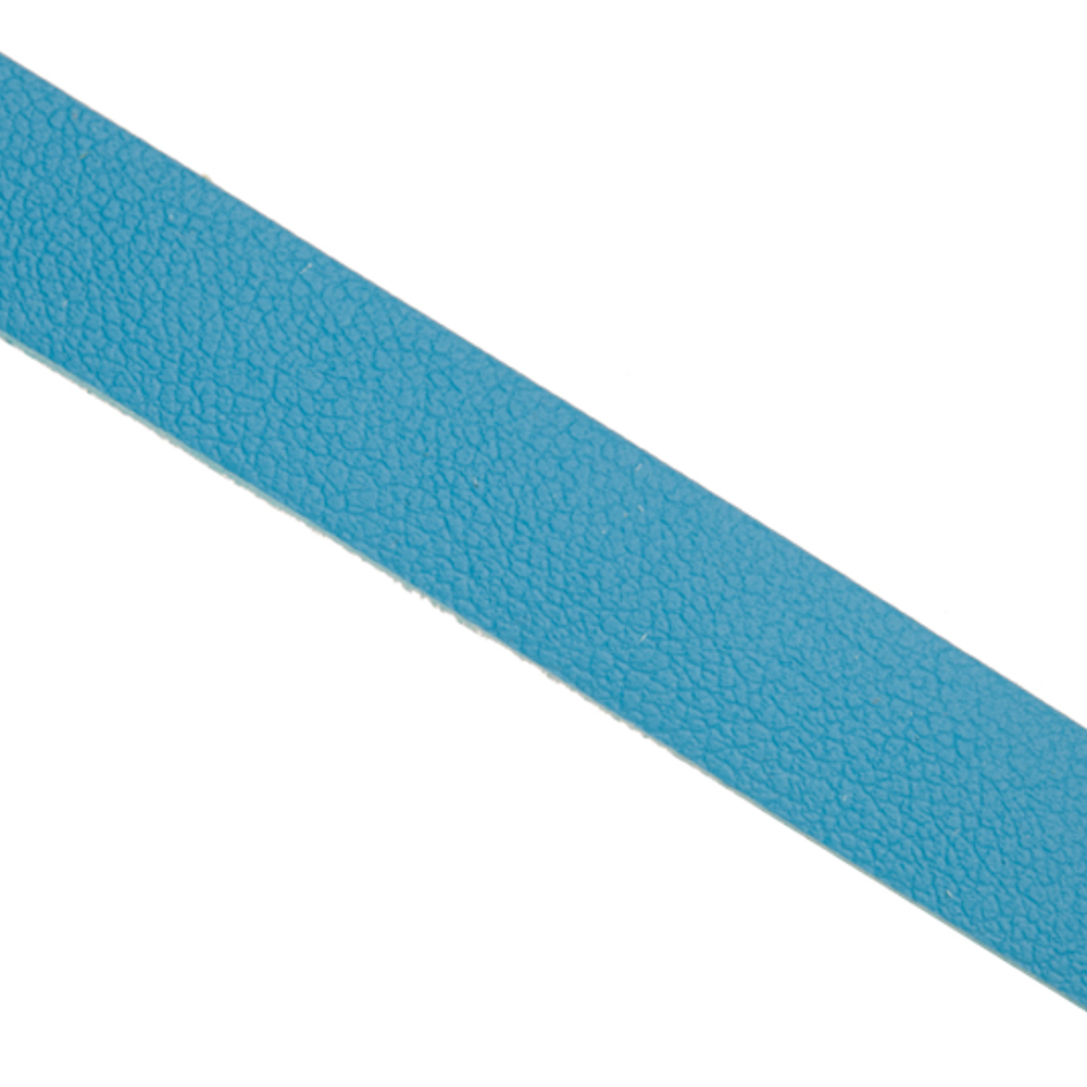 Genuine Leather Coated Faux Suede Lace Cord Blue 10mm Sold per pkg of 2x1yard strings