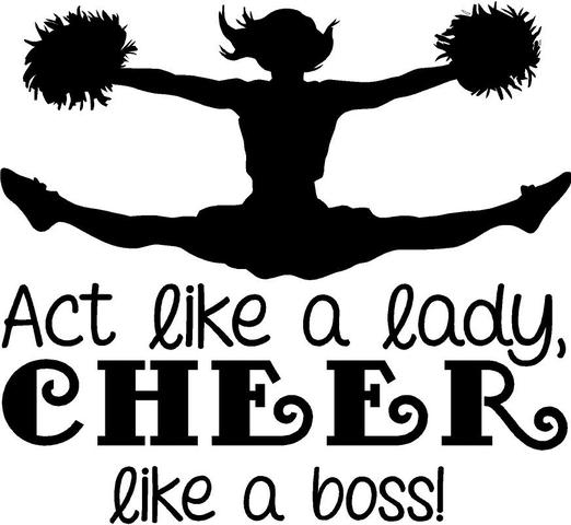 "Cheerleading Wall Decal ""Act Like a Lady, Cheer like a Boss"" 