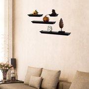 Adeco Trading 4 Piece Wall Shelf Set