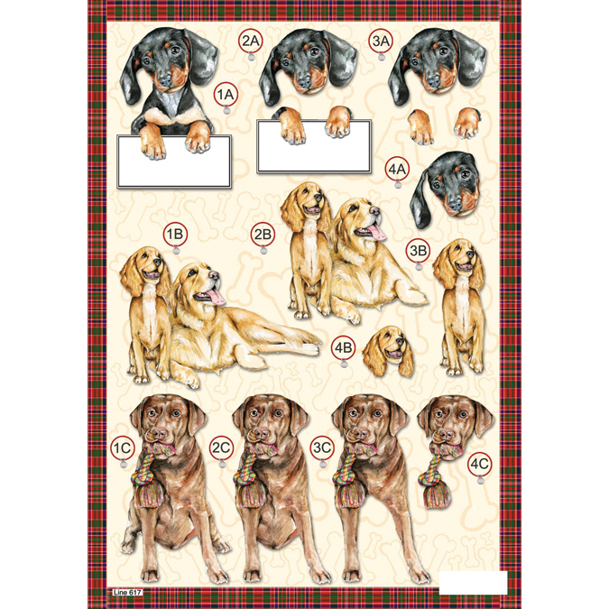 3-D Die-Cut Decoupage Sheet-Retriever