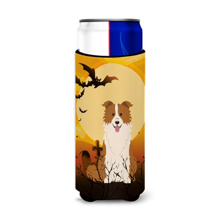 Halloween Border Collie Red White Michelob Ultra Hugger for slim cans BB4385MUK - Halloween Corner Borders