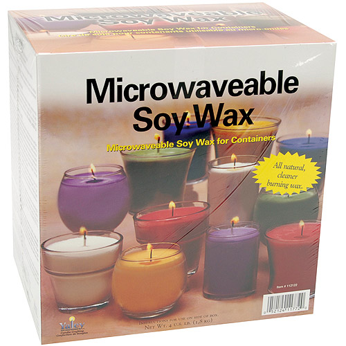 Microwaveable Soy Wax, 4 Pounds, For Glass Containers