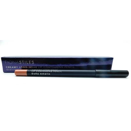 Fiona Stiles Creamy Long Wear Lip Contour Pencil, Dona Amelia .03 fl (Best Long Wear Lip Liner)