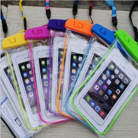Outdoor Waterproof Phone Bag Luminous Universal Mobile Phone Case Neck Strap - image 3 de 6