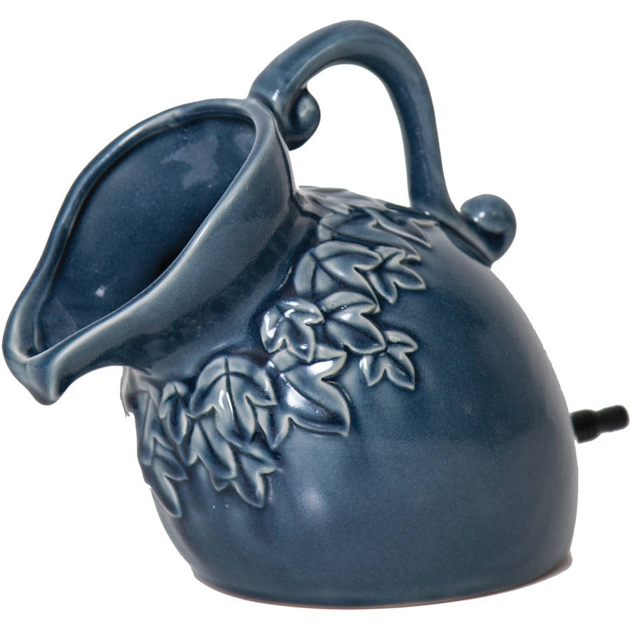 "Pond Boss SPPD 8.5"" x 6.5"" x 13"" Denim Ceramic Pouring Pitcher Spitter"