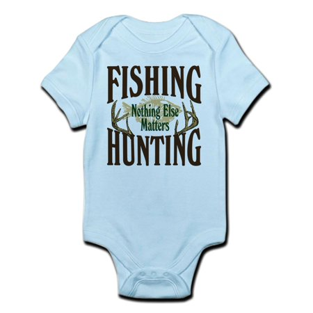 CafePress - Fishing Hunting Nothing Else Matters Infant Bodysu - Baby Light Bodysuit (Baby Hunting Gear)