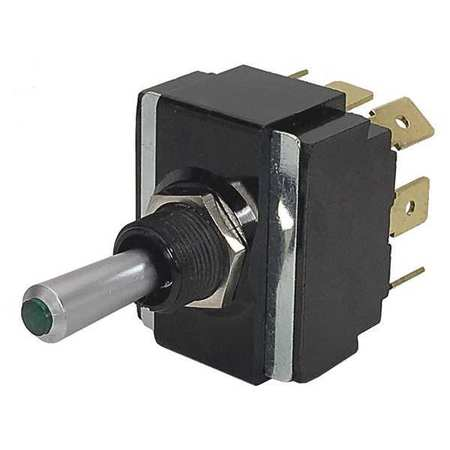 CARLING TECHNOLOGIES Toggle Switch,DPDT,10A @ 250V,QuikConnct, LT2561-603-012