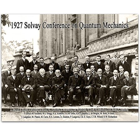 1927 Solvay Conference on Quantum Mechanics - 11x14 Unframed Art Print - Great Gift for Scientists (1927 Fine Art)