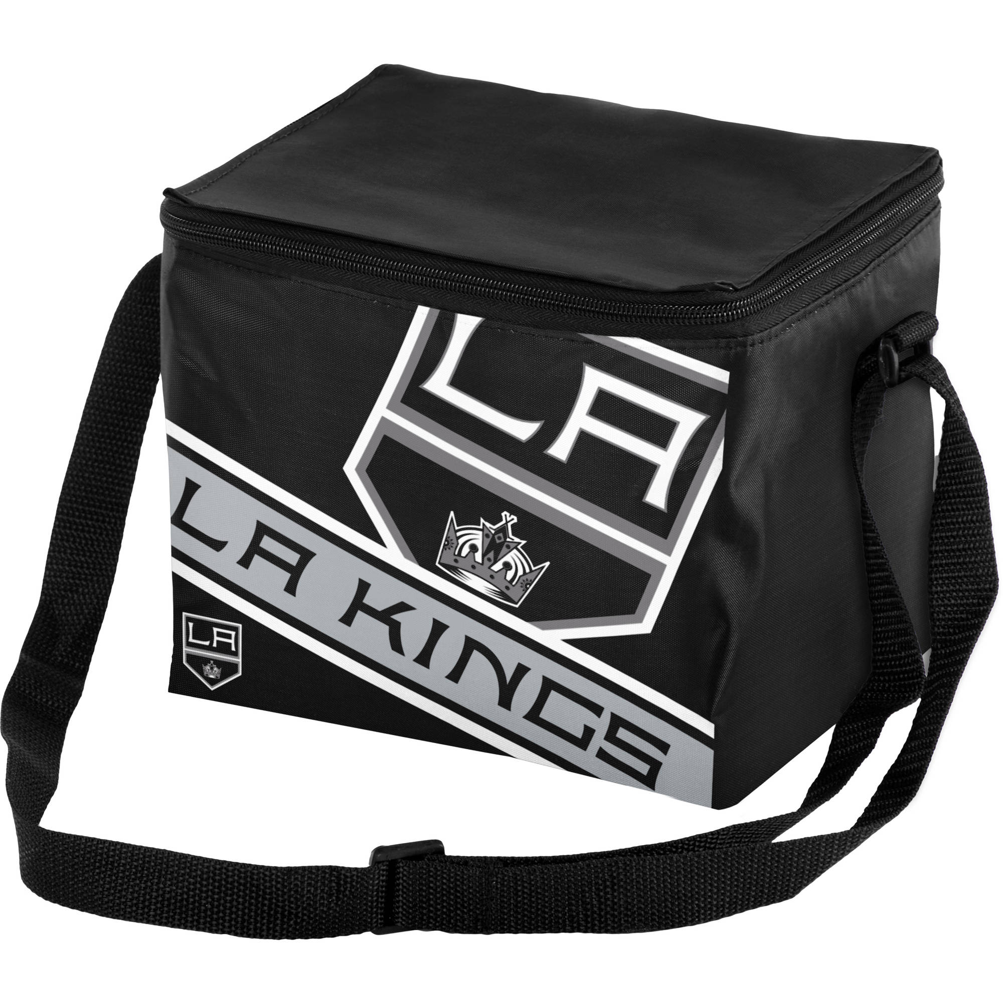 Forever Collectibles Big Logo Stripe 6 Pack Cooler, Los Angeles Kings