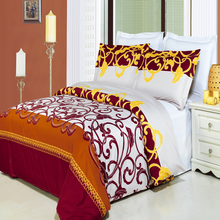 Clearance: Soft 100% Cotton Printed 3 Piece Duvet Cover Set-Full/Queen-Mission