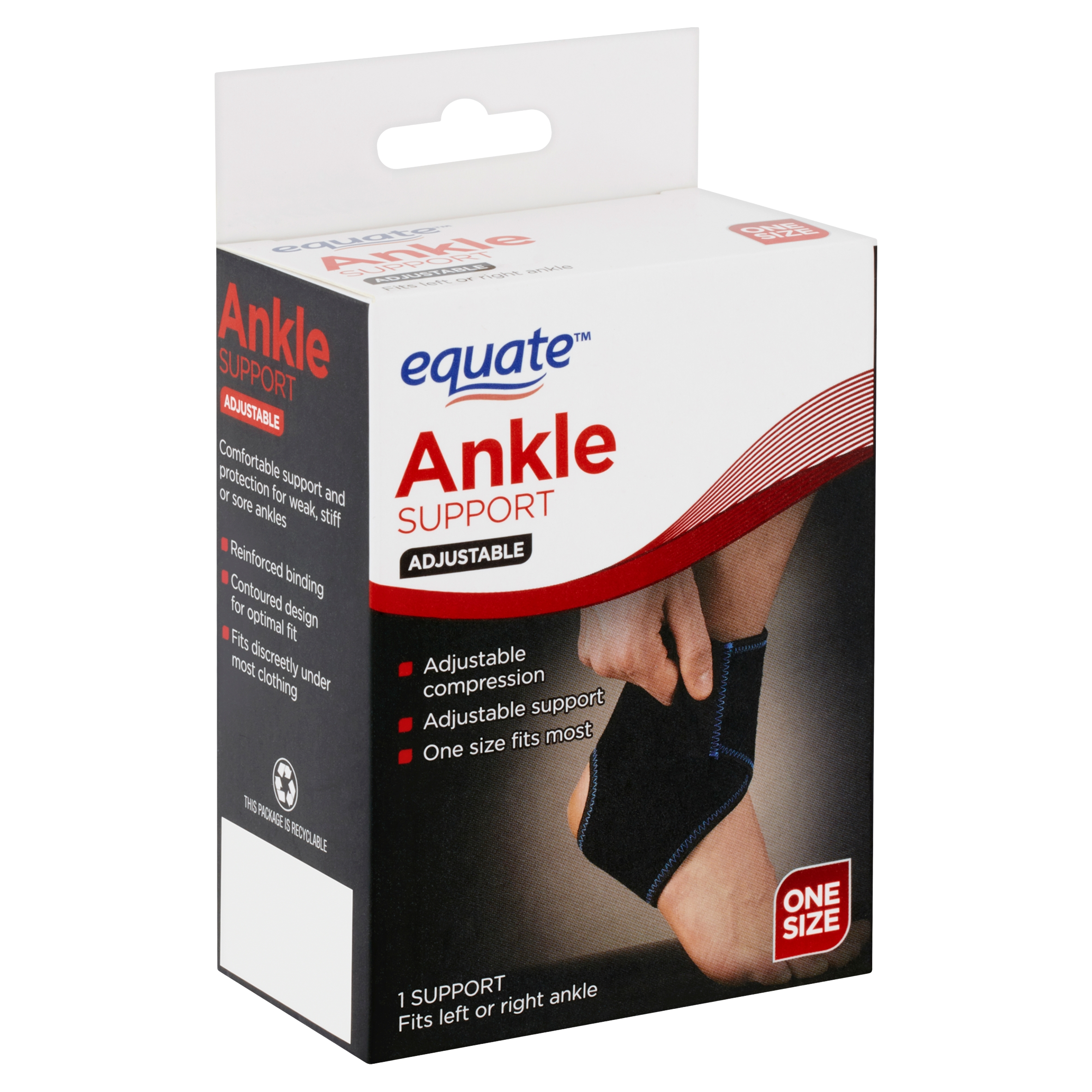 Equate Adjustable One Size Ankle Support