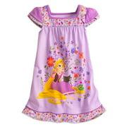 Disney Store Girls Rapunzel - Tangled - Short Sleeve Nightshirt, Purple