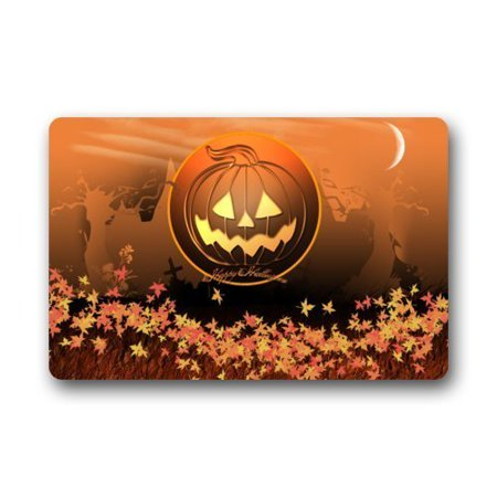 WinHome Happy Halloween Pumpkin Doormat Floor Mats Rugs Outdoors/Indoor Doormat Size 23.6x15.7 inches - 100 Floors Level 8 Halloween Special
