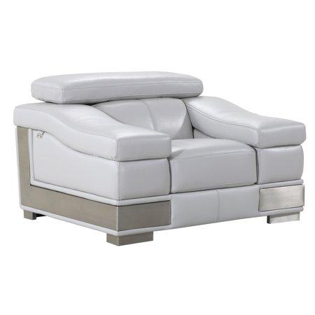 DivanItalia Salerno Grey Luxury Italian Leather Living Room (Italian Leather Living Room)