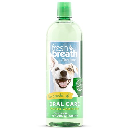 Fresh Breath by TropiClean Oral Care Water Additive, 33.8 Oz