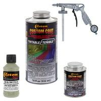 34432 Gray Green T75 - Custom Coat Urethane Spray-On Truck Bed Liner, 0.21 Gallon - With Applicator Spray Gun