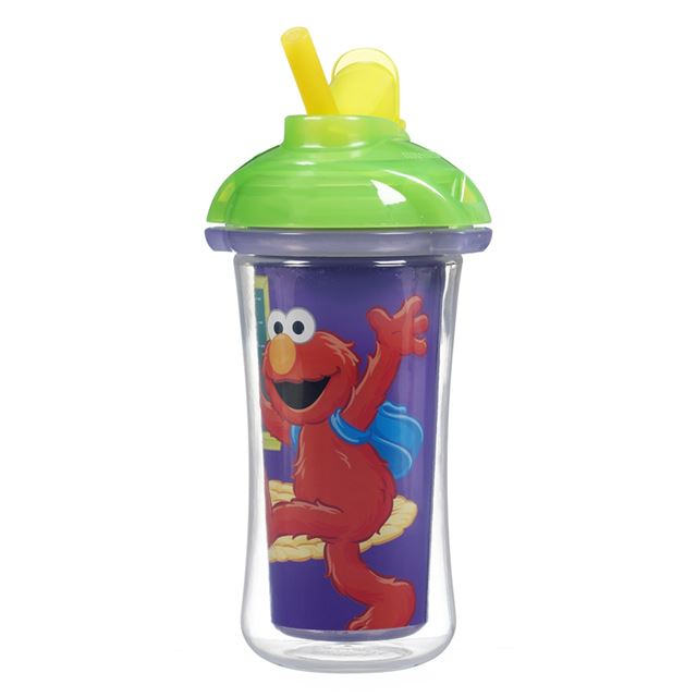 Munchkin Sesame Street Click Lock 9 oz Insulated Straw Cup ...