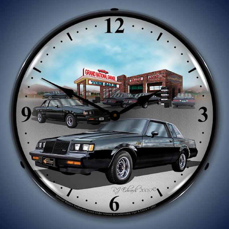 Omega National 1987 Buick Gran National Wall Clock, Lighted