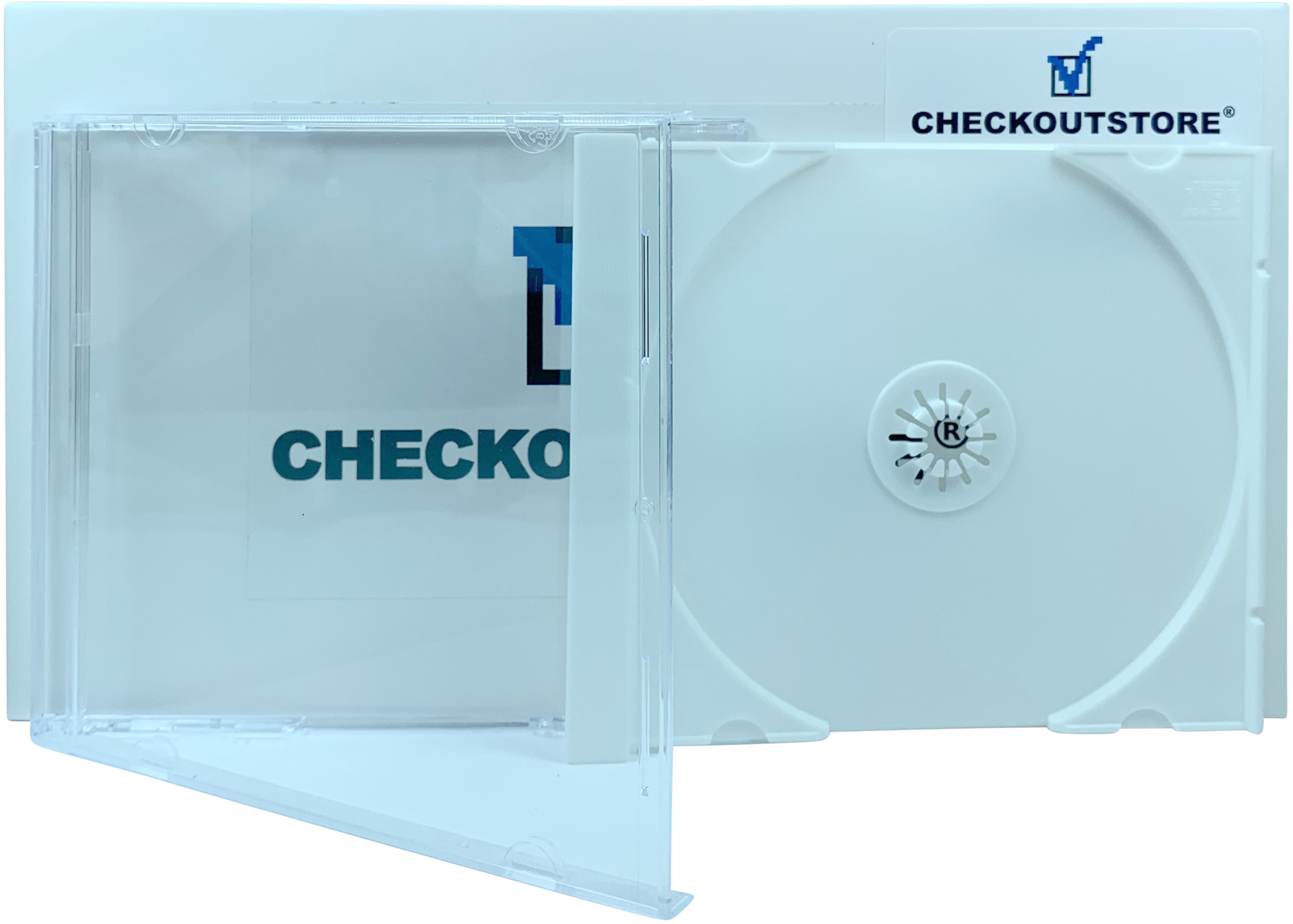 Standard Single 1-Disc CD Jewel Cases CheckOutStore Black Tray Only 400 Unassembled