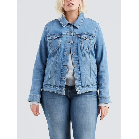 Levi's Women's Plus Original Trucker Denim Jacket (Levis Jacket 3x)