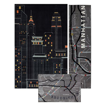 Mohawk Home Aurora New York City 3 Piece Rug Set Set
