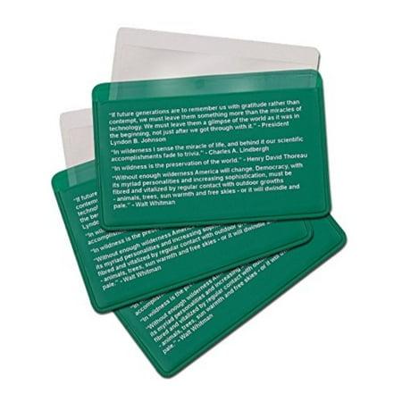 3-Pack Credit Card Size Pocket Fresnel Lens - Magnifier Lenses for Fire