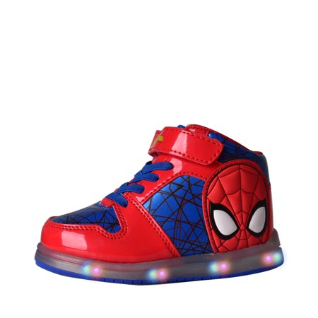 SPIDER-MAN BOYS' LIGHT-UP HIGH TOP SNEAKERS (Boys Nike High Top Shoes)
