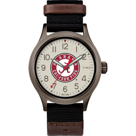 Timex - NCAA Tribute Collection Clutch Men's Watch, University of Alabama Crimson Tide