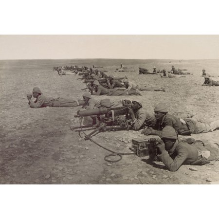 World War 1 In The Middle East Turkish Machine Gun Corps At Tell El Sheria On The Ottoman Defensive Gaza-Beersheba Line 1917 History