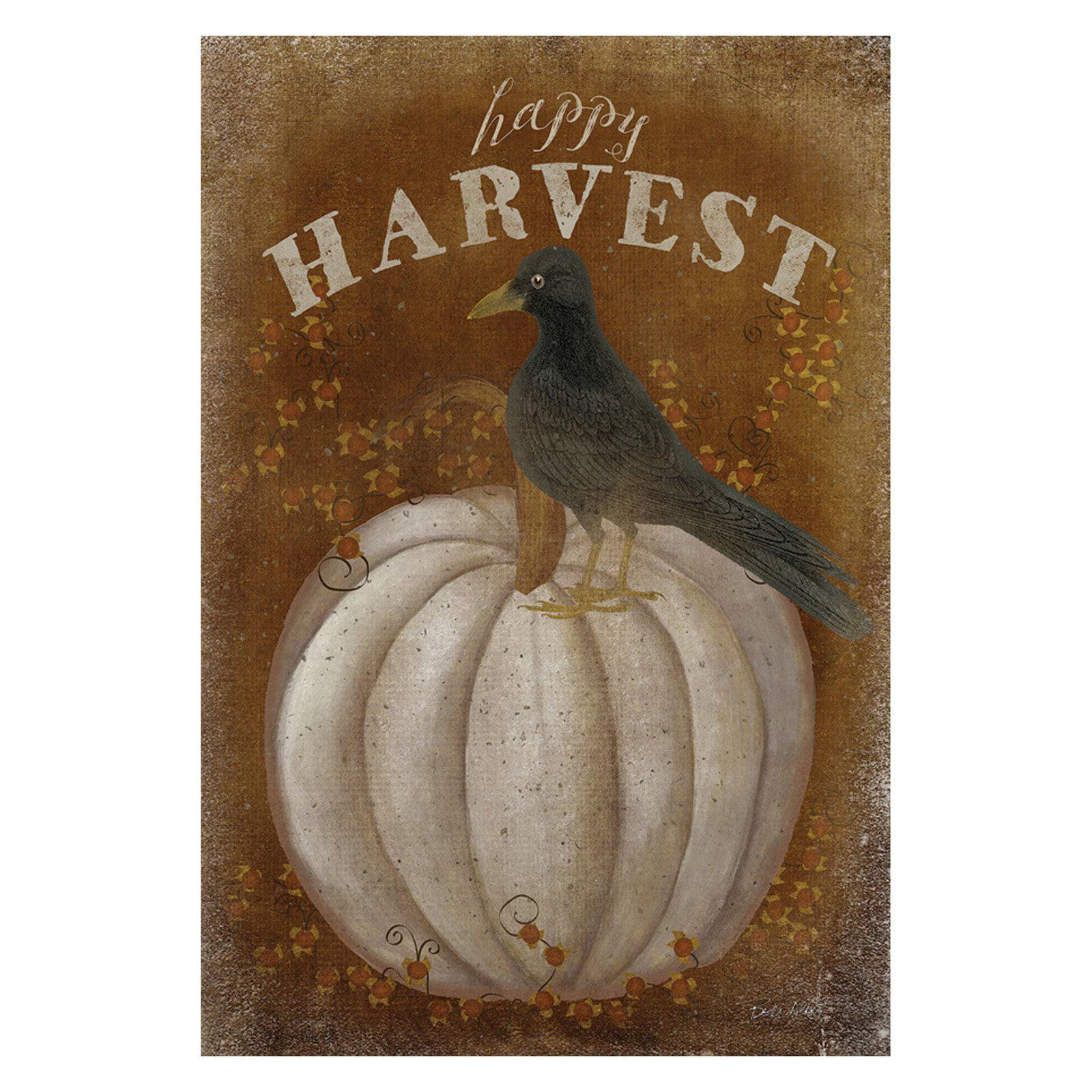 Toland Home Garden Happy Harvest Polyester Flag
