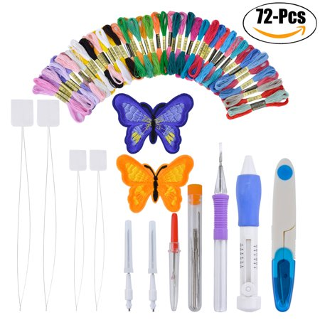 Embroidery Kit Assorted Embroidery Tools Cross Stitch Tool Embroidery Pen Kit for DIY