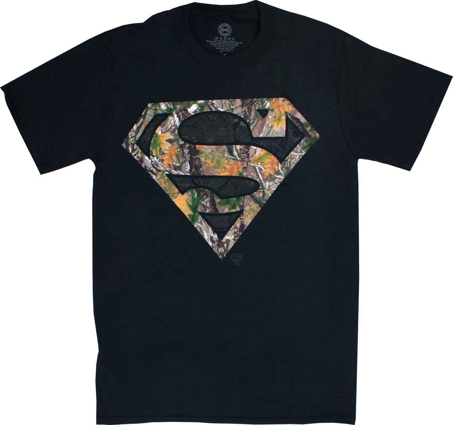 Superman Logo Woodsy Camouflage Men's T-Shirt