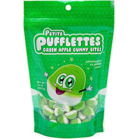 Petite PUFFLETTES Green Apple Gummy, Morsures 16 oz
