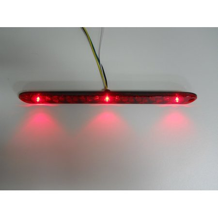 Trailer Light Bar - TecNiq Red HI Mount Center ID Bar 11 LED Stop Light Trailer Truck