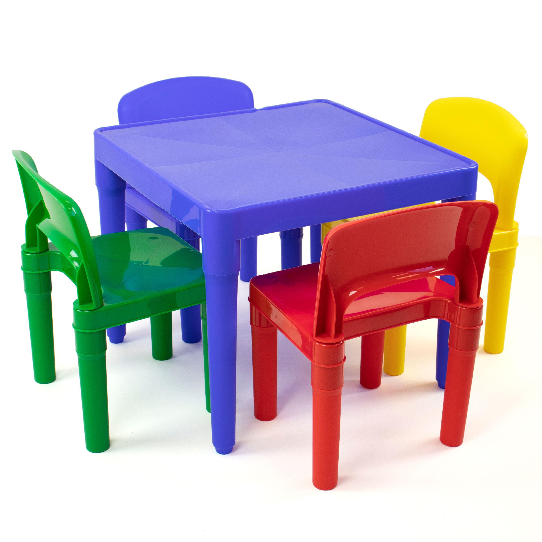 Plastic Table & 4 Chairs - Primary - Tot Tutors