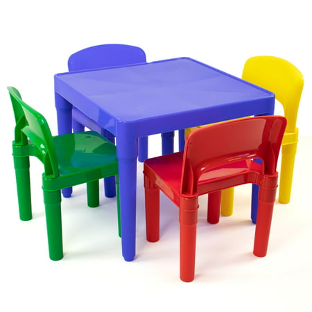 Plastic Table & 4 Chairs - Primary - Tot Tutors