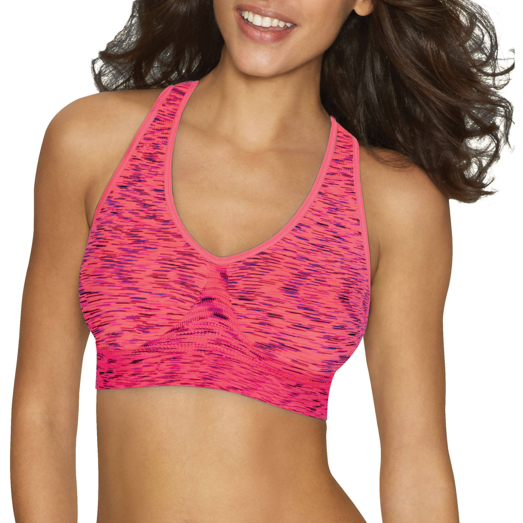 Hanes Cozy Racerback Seamless Pullover Wirefree Bra, Style G39F