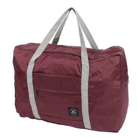 Unique Bargains Travel Blanket Bra Clothes Packing Folding Carry Storage Bag Burgundy 48x32x16cm