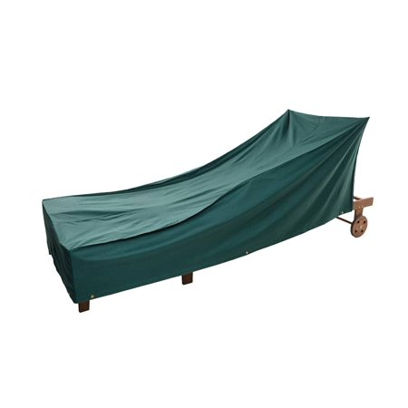 All-Weather Outdoor Cover for Long Chaise Lounge, Green ()