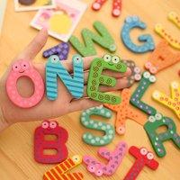 〖Follure〗26 Letters Wooden Cartoon Fridge Magnet kid Baby Educational Toy