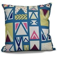 "Simply Daisy 16"" x 16"" Merry Susan Geometric Print Outdoor Pillow"