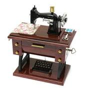 Vintage Treadle Sewing Machine Music Box Sewing Machine Mechanical Birthday Gift Table Decor